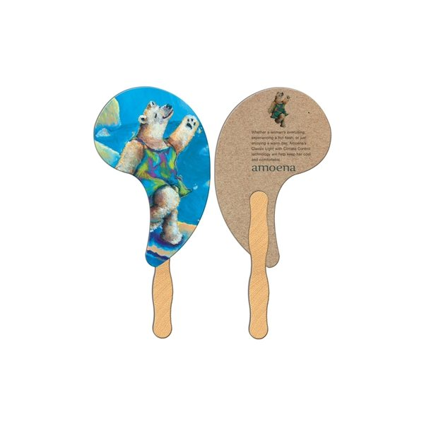 Promotional Comma Recycled Stock Fan - Paper Products