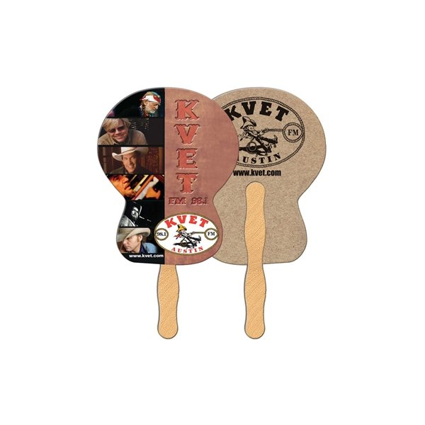 Promotional Guitar Recycled Stock Fan - Paper Products