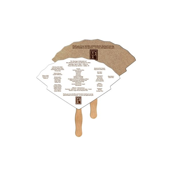 Promotional Oriental Recycled Stock Fan - Paper Products