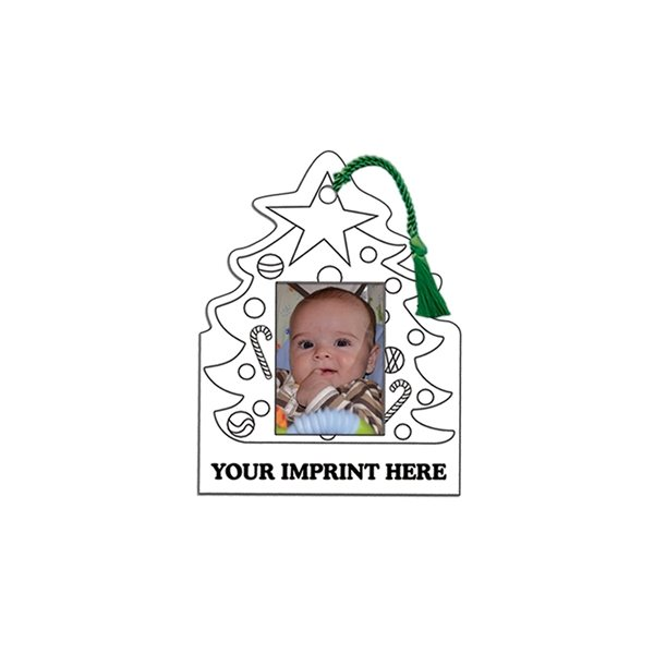 Promotional U - Color Christmas Photo Frame - Paper Products