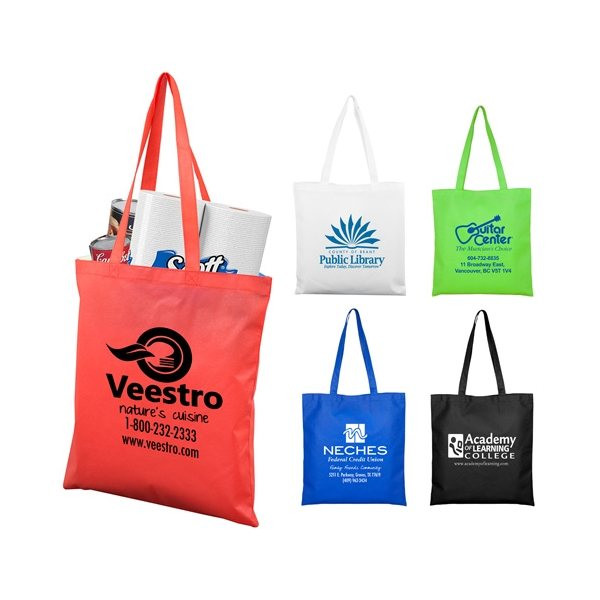 Promotional Catalina Day Tote Shopping Bag with Hook and Loop Fastener Closure