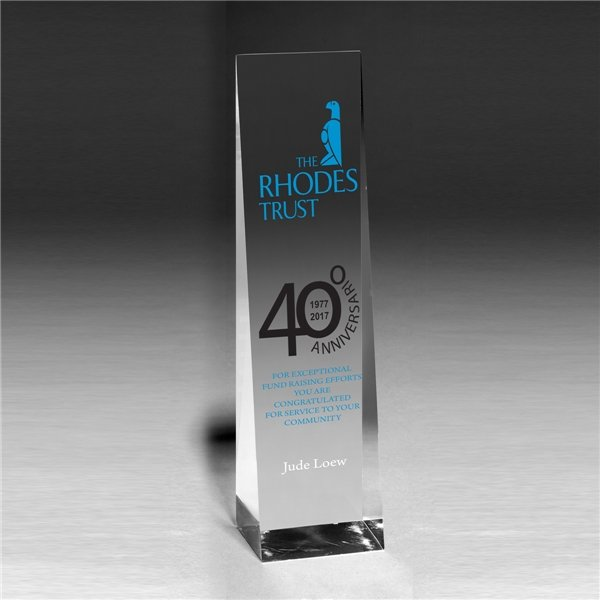 Promotional Angeled Obelisk Award - 7 3/4