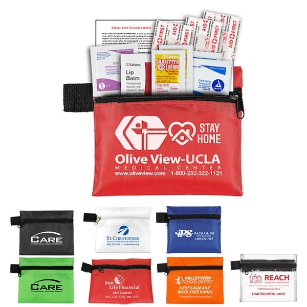 Promotional The Travelers Kit 1 10 Piece First Aid Sun Kit