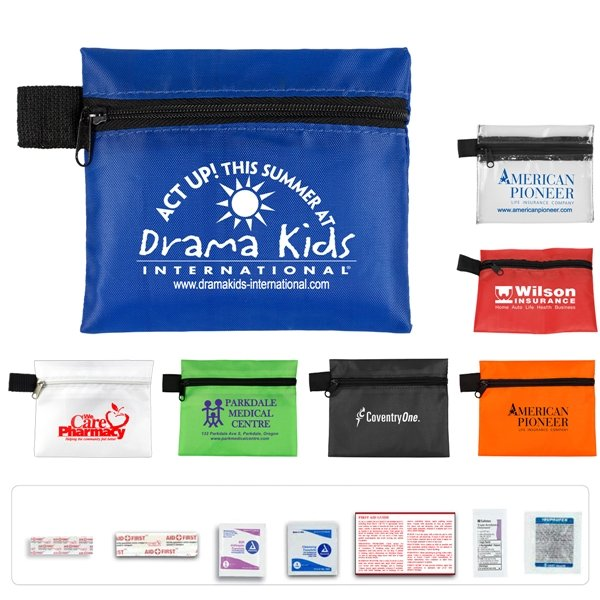 Promotional Take - A - Long Kit 3 9 Piece Healthy Living Pack Components inserted into Zipper Pouch
