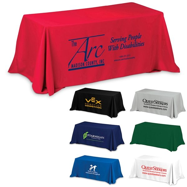 Promotional 3- Sided Color Printed 6 Table Cover Throw