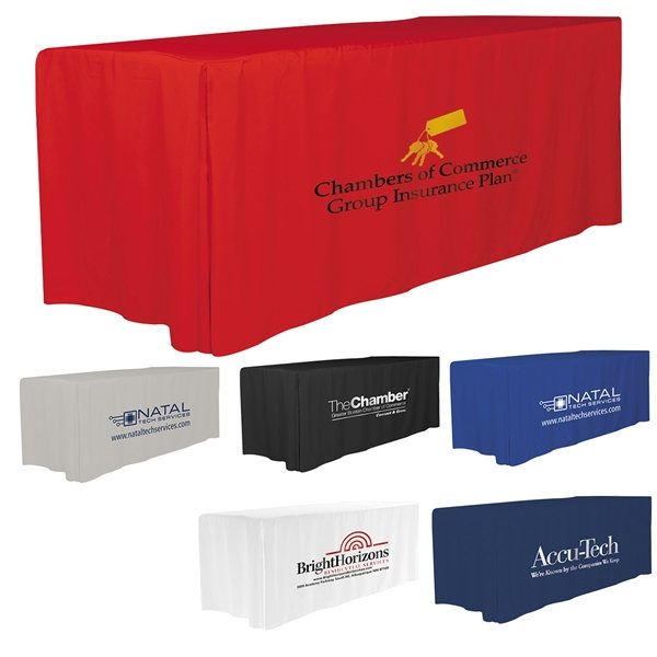 Promotional 6 4- Sided Fitted Style Table Covers Table Throws