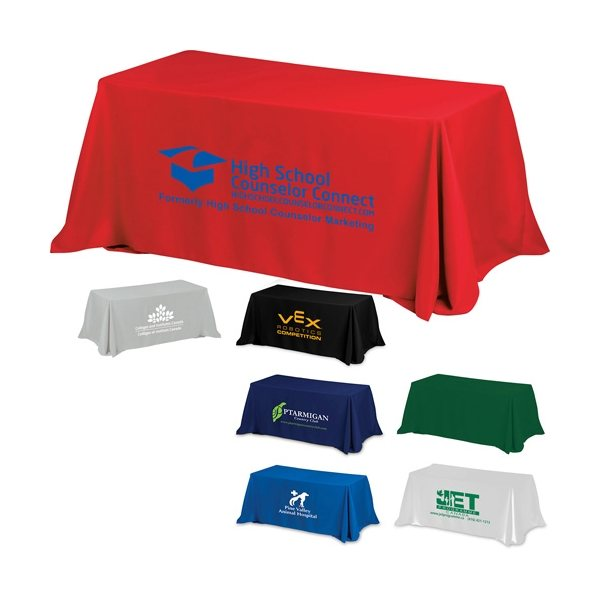 Promotional 8 4- Sided Throw Style Table Covers Table Throws