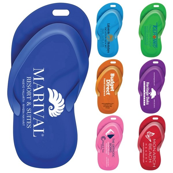 Promotional Stock Shape Sandal Luggage Bag Tag