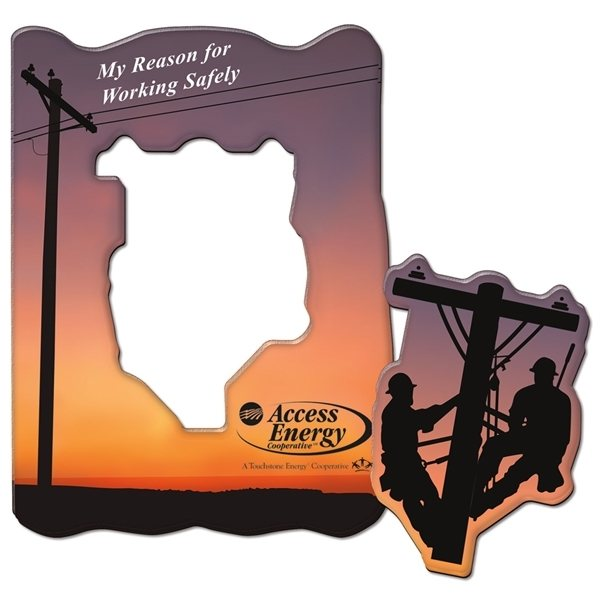 Promotional Custom Shape Acrylic Magnet Frames - Up To 12 Sq. Inches