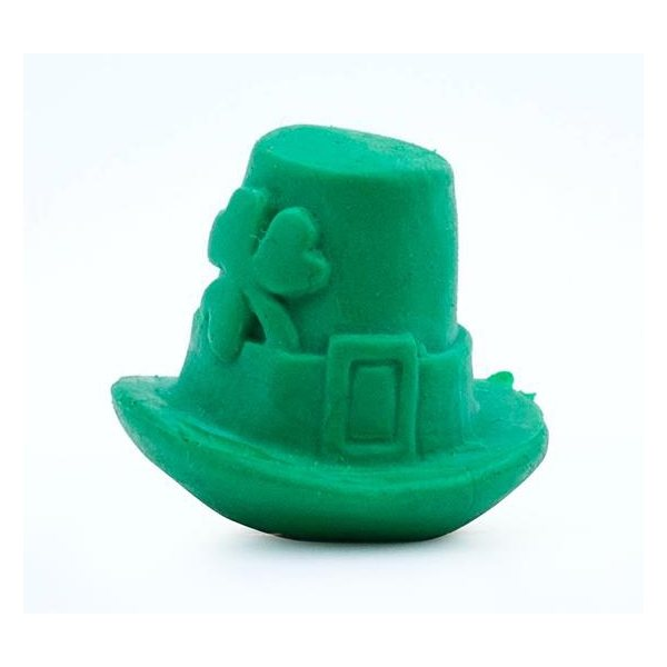 Promotional Pencil Top Stock Eraser - Leprechaun Hat