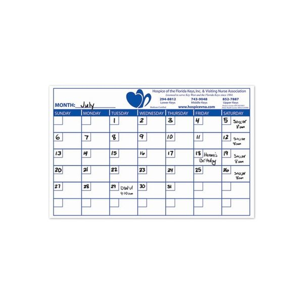 Promotional Rectangle Memo Board - 11 X 17