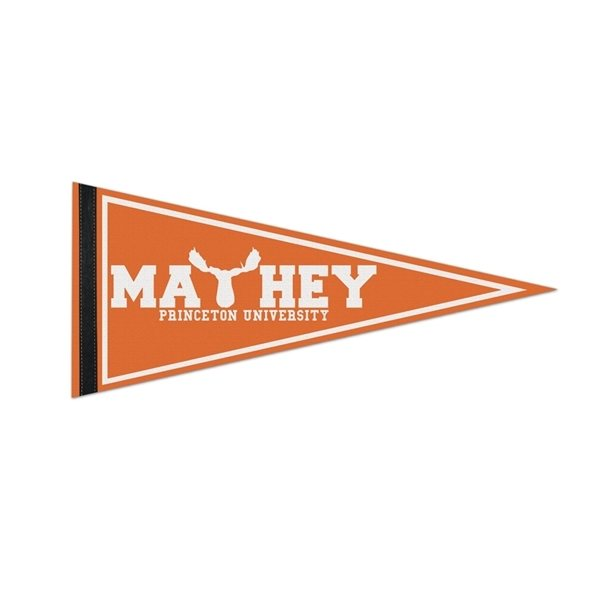 Promotional 1 Sewn Strip Colored Pennant - 8 X 18