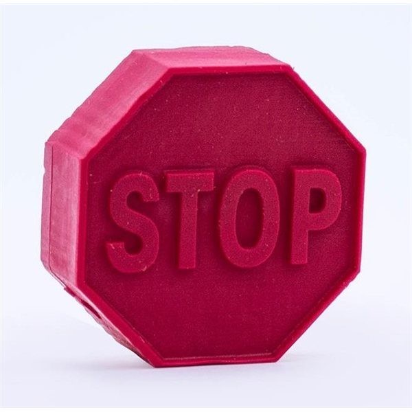 Promotional Pencil Top Stock Eraser - Stop Sign