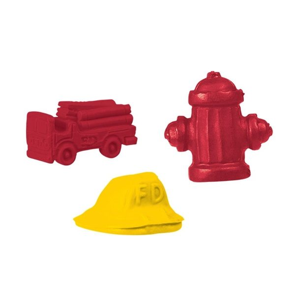 Promotional Pencil Top Stock Eraser - Firefighter Collection