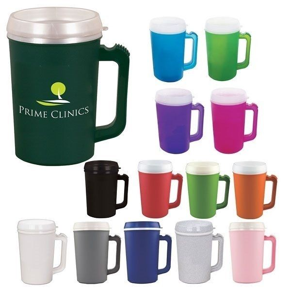 Promotional 22 oz Plastic Double Wall Insulated Mug