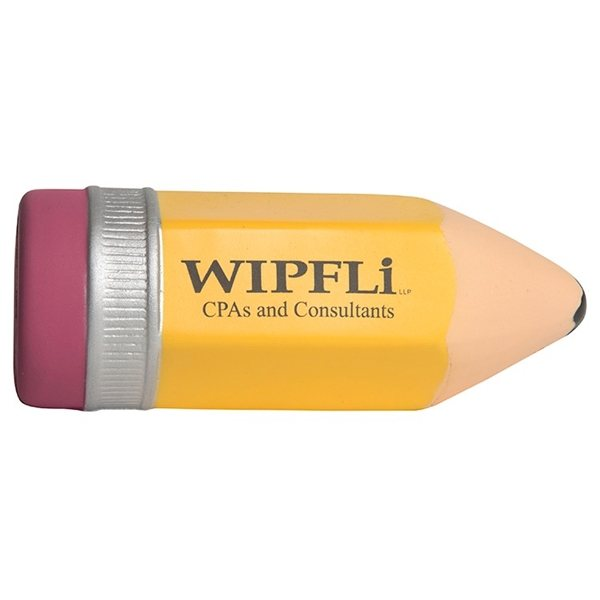 Promotional Sharpened Pencil with Eraser Squeezie - Stress reliever