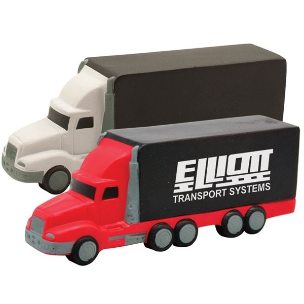 Promotional Semi Truck Squeezies Stress Reliever