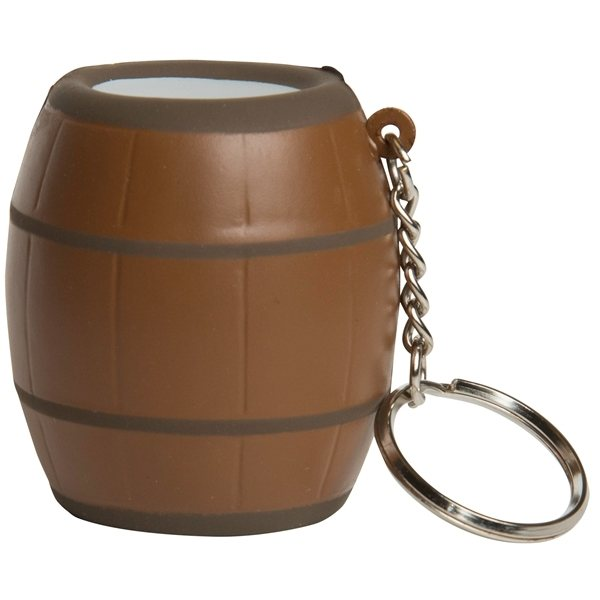 Promotional Barrel Squeezie Keyring - Stress reliever