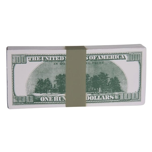 Promotional 100 Dollar Bill Stack Squeezies - Stress reliever
