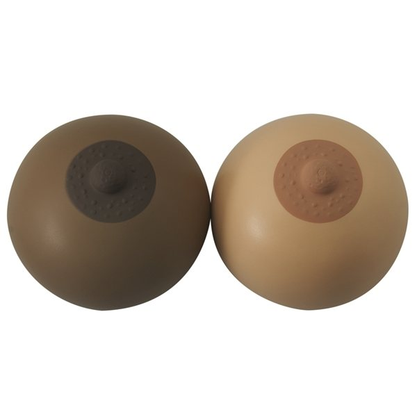 Promotional Breast Squeezies Stress Reliever - Brown or Pink