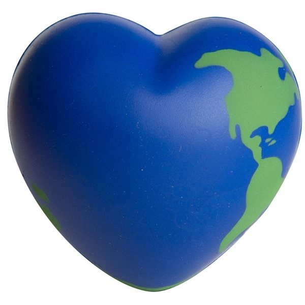 Promotional Earth Heart Squeezies - Stress reliever