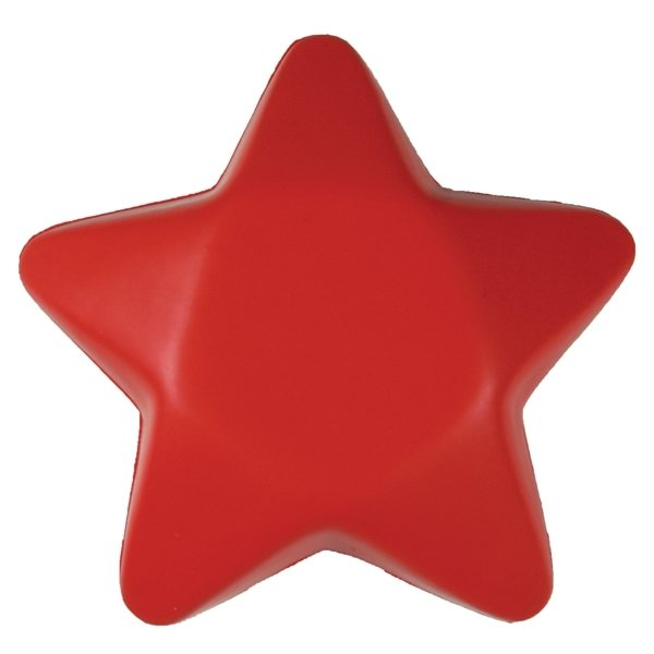 Promotional Red Star Shaped Squeezies Stress Reliever
