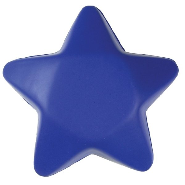Promotional Blue Star Shaped Squeezies Stress Reliever