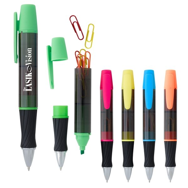 Promotional 3- In -1 Executive Assistant Highlighter Pen