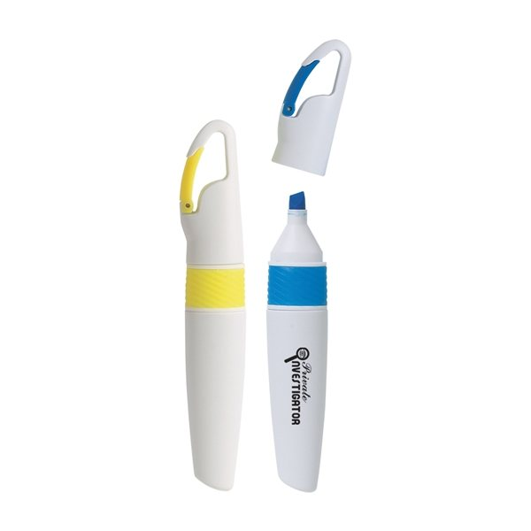 Promotional Highlighter with Carabiner