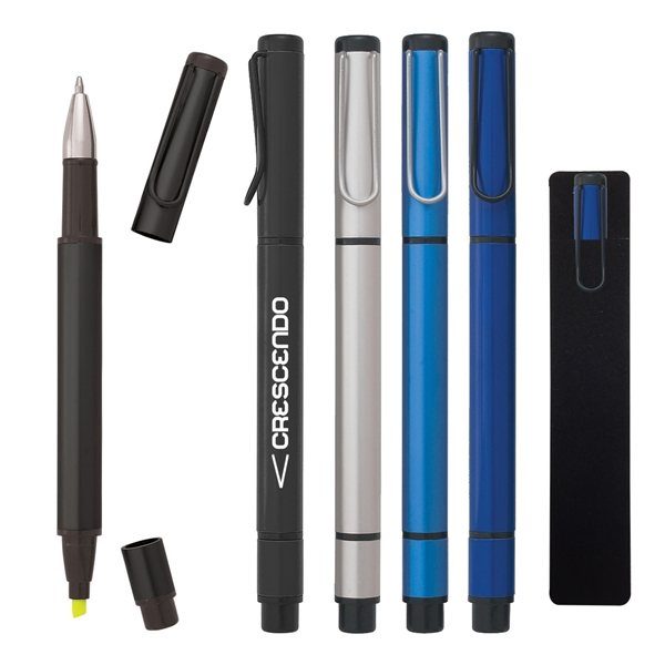 Promotional Dual Function Pen With Highlighter