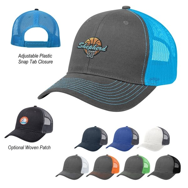 Promotional Cotton Twill Mesh Back Cap