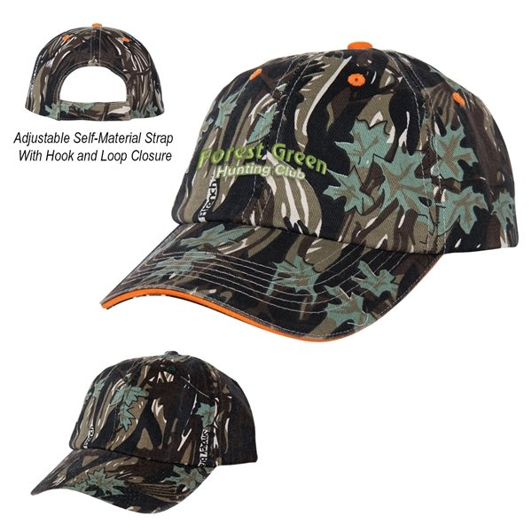 Promotional 100 Cotton Twill Camouflage Cap
