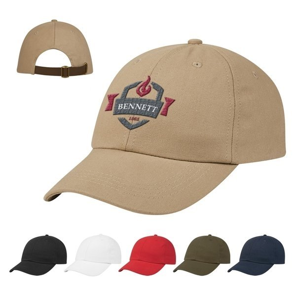 Promotional Washed Cotton Dad Chino Cap