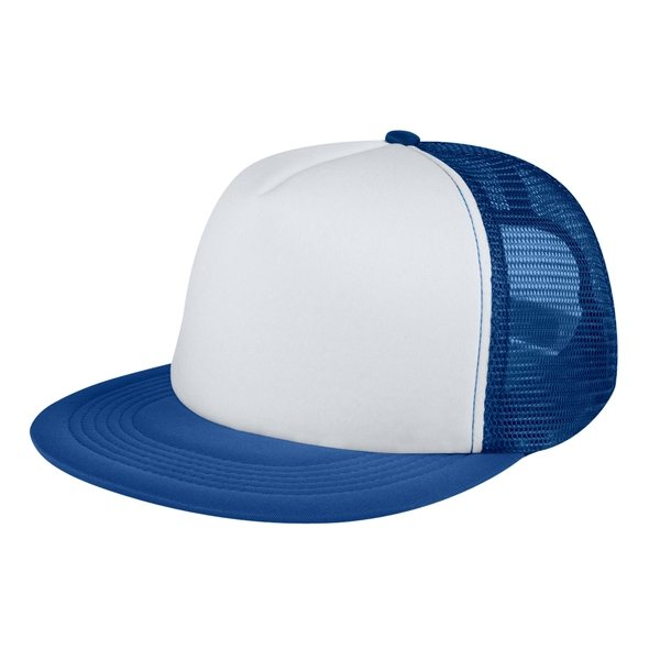 0ac1713094002 ... Promotional Custom Flat Bill Trucker Cap With Multi Color Choices ...