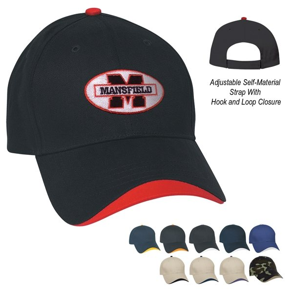Promotional 100 Brushed Cotton Twill Wave Cap