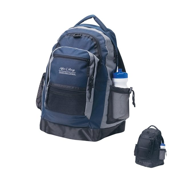 Promotional Nylon Backpack With Vinyl Bottom