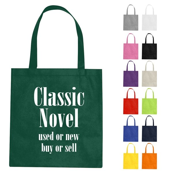 Promotional Custom Non - Woven Tote Bag With Multi Color Choices - 15 X 16
