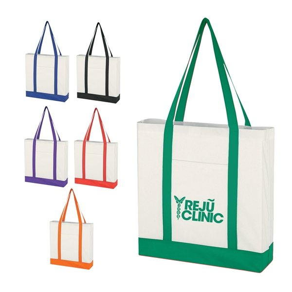 Promotional Non - Woven Tote Bag With Trim Colors