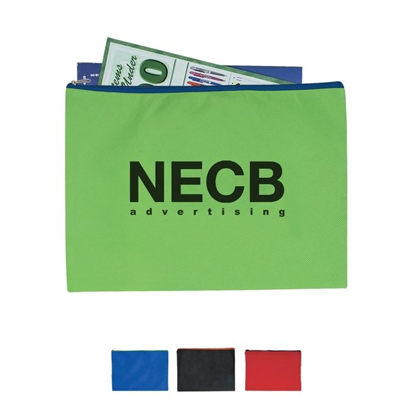 Promotional Non - Woven Document Sleeve With Zipper