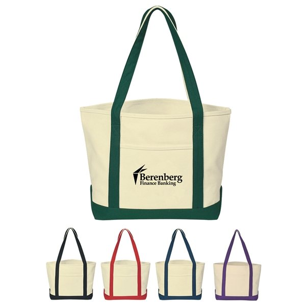 Promotional Heavy Cotton Canvas Boat Tote Bag