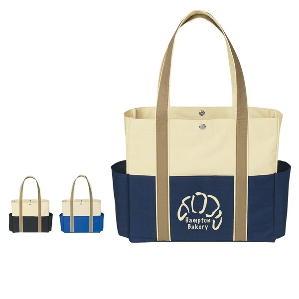 Promotional 600D Polyester Tri - Color Tote Bag