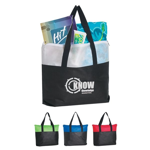 Promotional Non - Woven Zippered Tote Bag