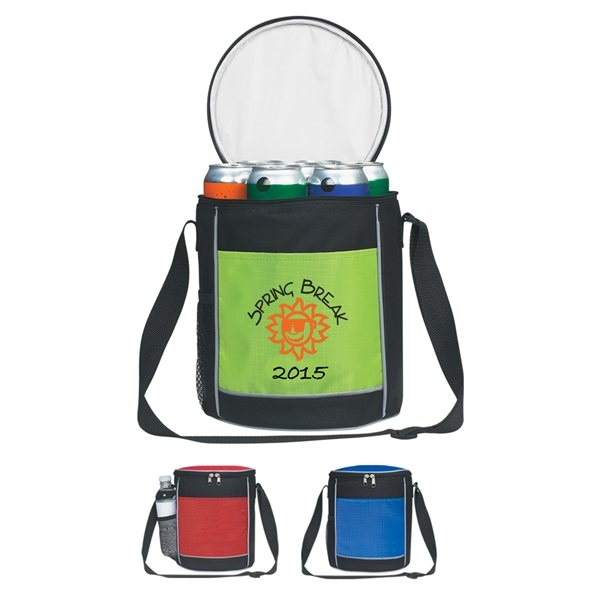Promotional Polyester / Nylon Round Cooler Bag
