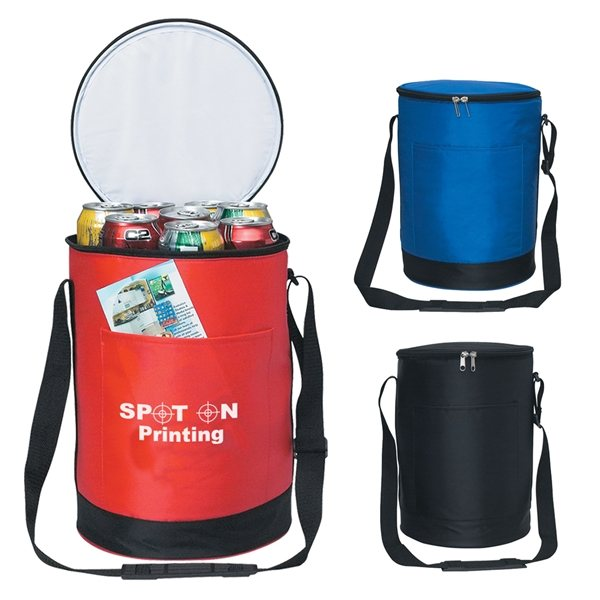 Promotional 70D Nylon Round Cooler Bag