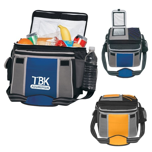 Promotional 70D Nylon and 600D Polyester Flip - Top Cooler Bag