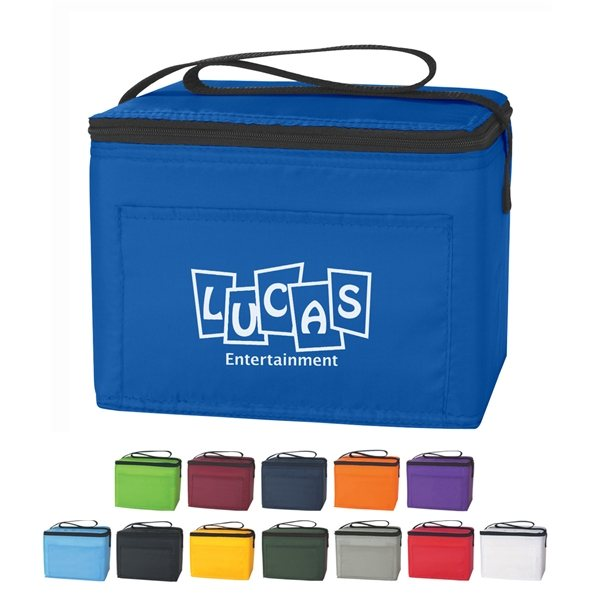 Promotional Polyester Custom Budget Cooler Bag - 6 Can