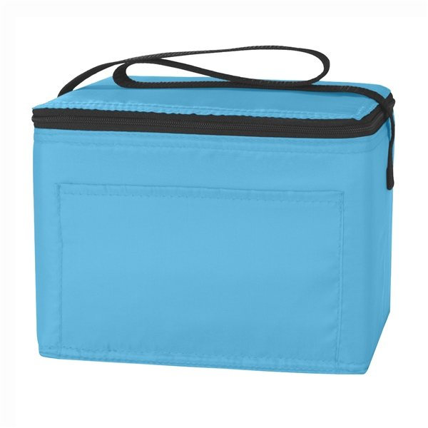Polyester Custom Budget Cooler Bag 6 Cans