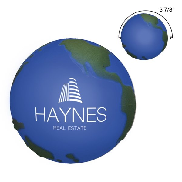 Promotional Globe Shape Stress Reliever