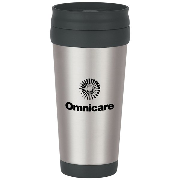 Promotional 16 oz Stainless Steel Slide Action Travel Tumbler