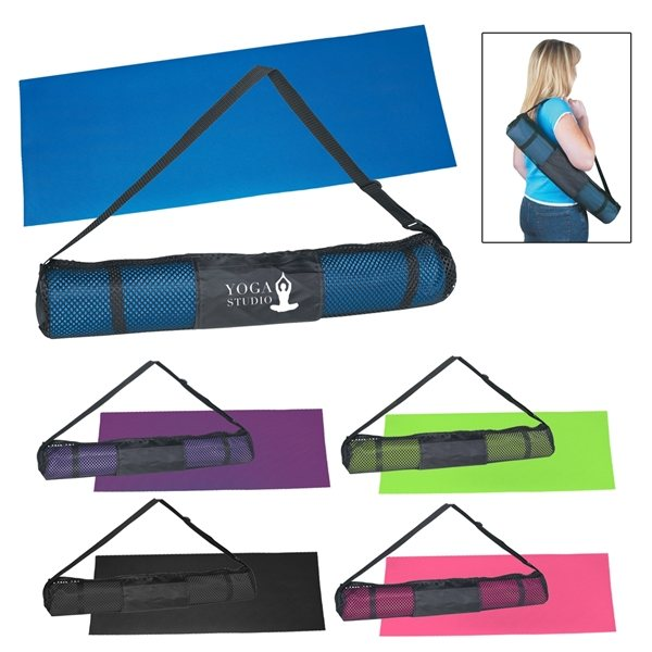Promotional Yoga Mat And Carrying Case